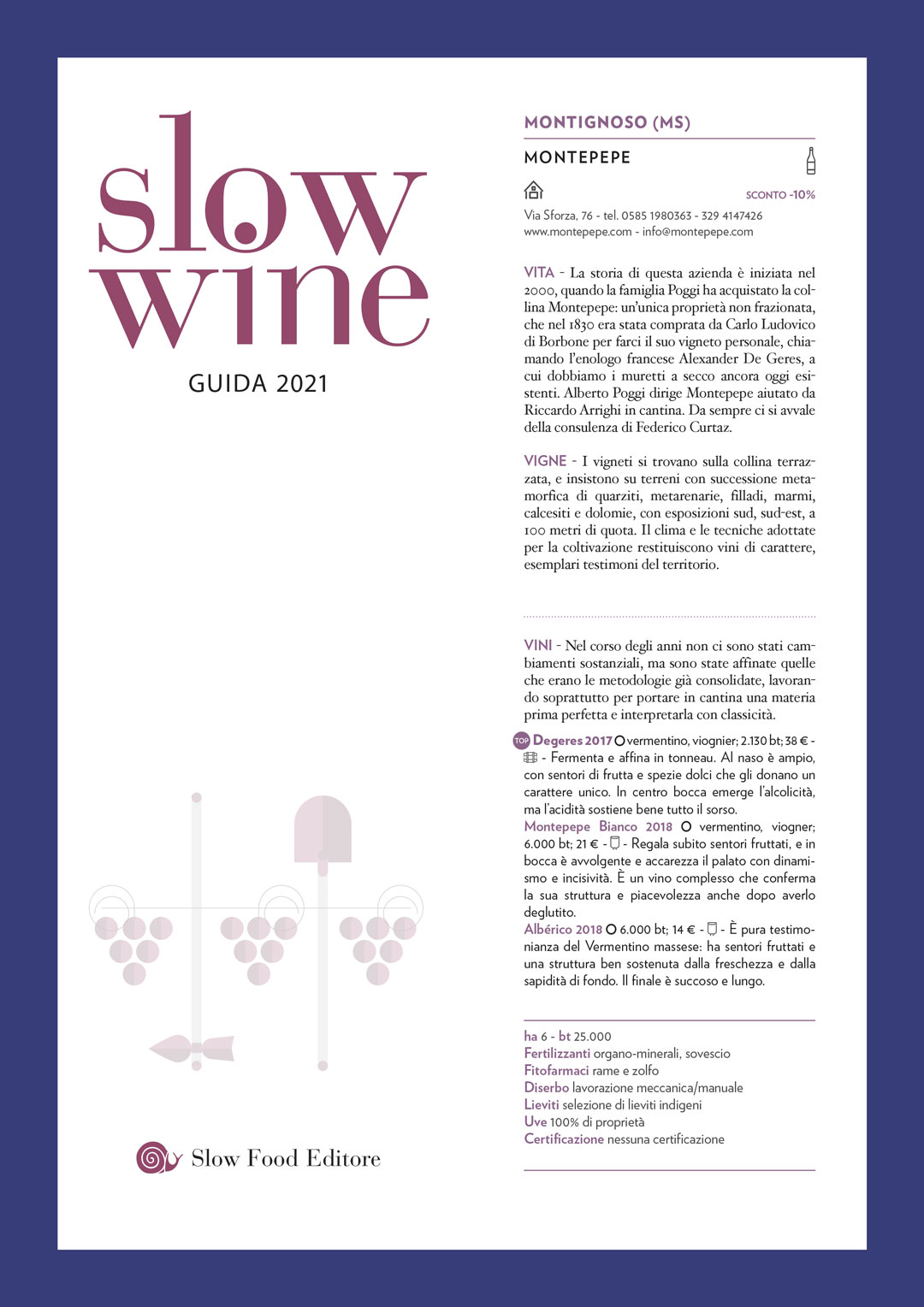 Slow Wine TOP wine 2021